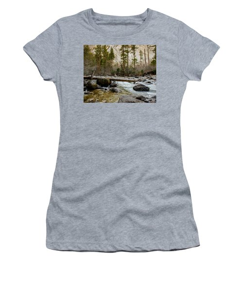 Merced River From Happy Isles 2 Women's T-Shirt (Athletic Fit)