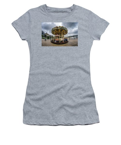 Merry-go-round Women's T-Shirt (Athletic Fit)