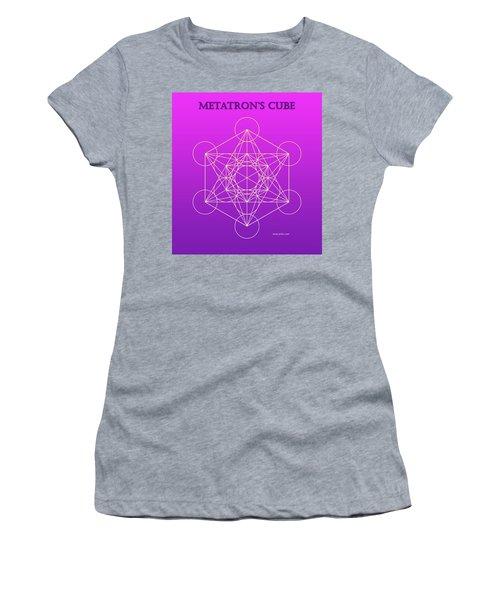 Metatron's Cube - Pinky Purple Women's T-Shirt