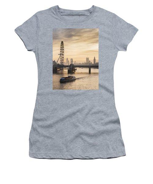 Millenium Wheel With Big Ben_ London Women's T-Shirt