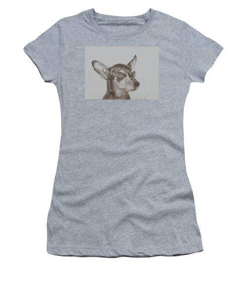 miniature pinscher Tronter Women's T-Shirt (Athletic Fit)