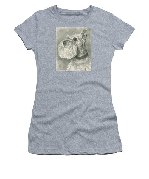 Miniature Schnauzer Women's T-Shirt (Junior Cut) by Lena Auxier