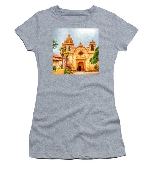 Mission San Carlos Borromeo De Carmelo Impasto Style Women's T-Shirt