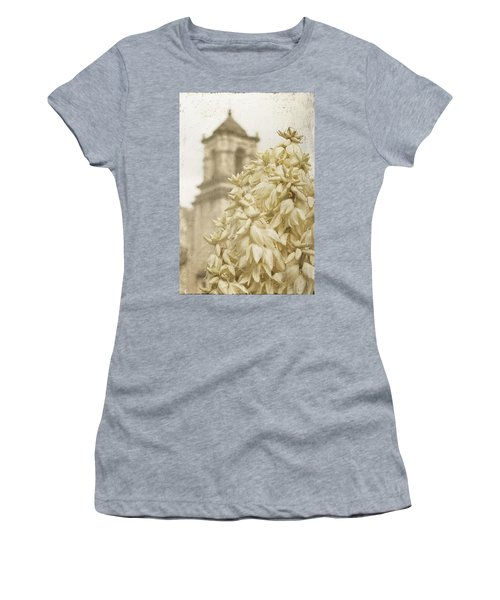 Mission San Jose And Blooming Yucca Women's T-Shirt (Athletic Fit)