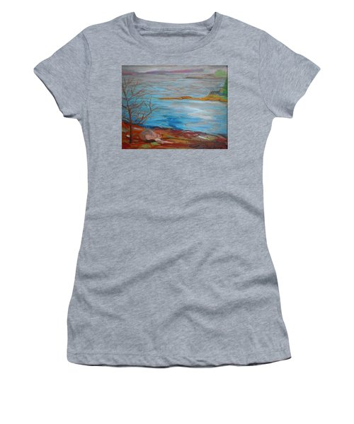 Women's T-Shirt (Junior Cut) featuring the painting Misty Surry by Francine Frank