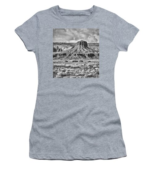 Women's T-Shirt (Junior Cut) featuring the photograph Monument Valley 7 Bw by Ron White