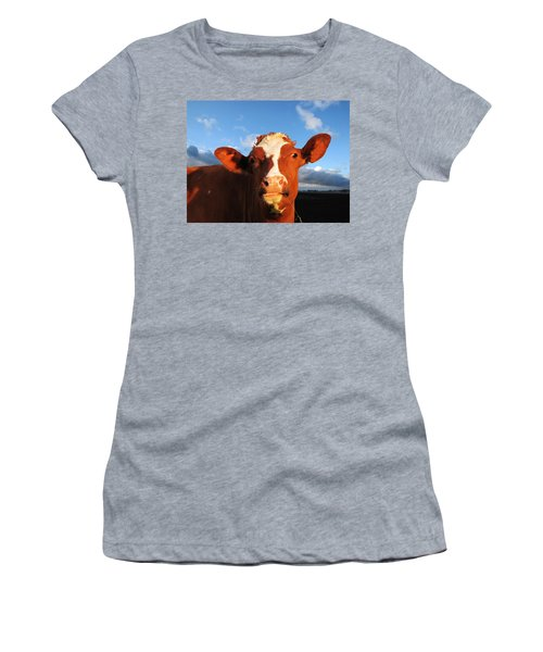 Moo Don't Say Cow Women's T-Shirt (Athletic Fit)