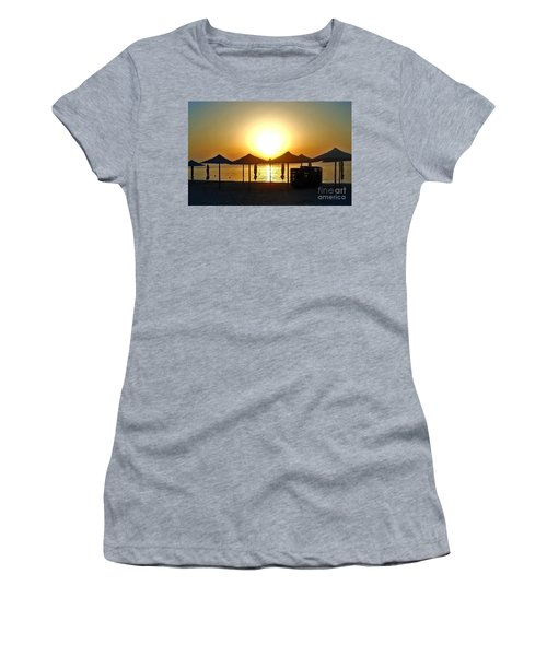 Morning In Greece Women's T-Shirt (Athletic Fit)