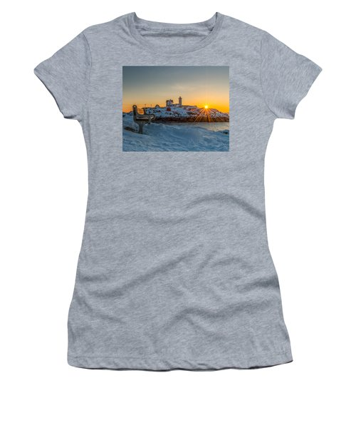 Morning Light At Nubble Lighthouse Women's T-Shirt