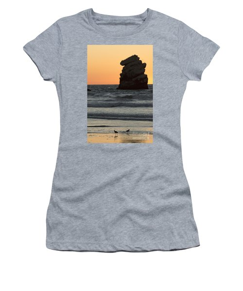 Morro Beach Sunset Women's T-Shirt (Athletic Fit)