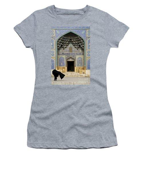Mosque Door In Isfahan Esfahan Iran Women's T-Shirt (Athletic Fit)