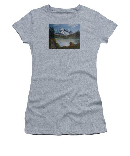 Mountain And River Women's T-Shirt (Junior Cut) by Ian Donley