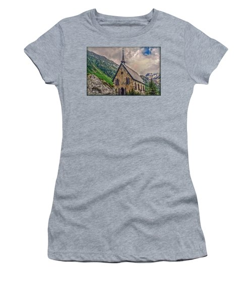 Women's T-Shirt (Junior Cut) featuring the photograph Mountain Chapel by Hanny Heim