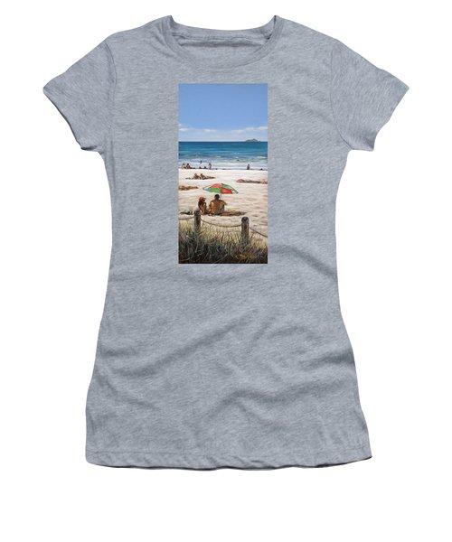 Mt Maunganui Beach 090209 Women's T-Shirt (Athletic Fit)