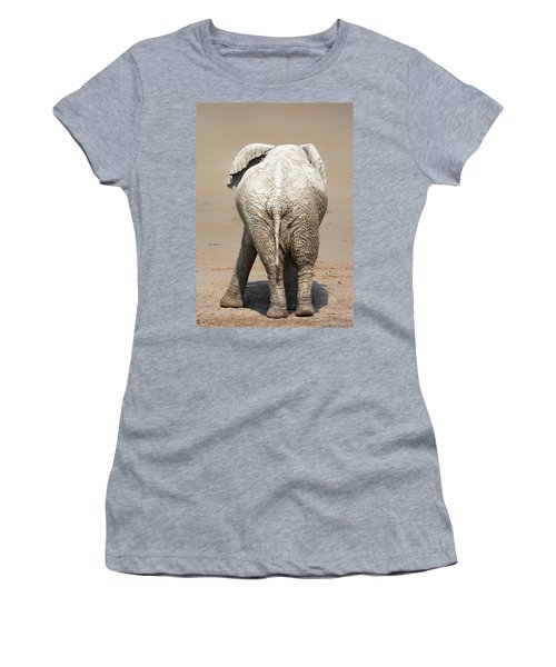 Muddy Elephant With Funny Stance  Women's T-Shirt