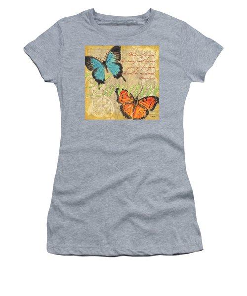 Musical Butterflies 1 Women's T-Shirt (Athletic Fit)