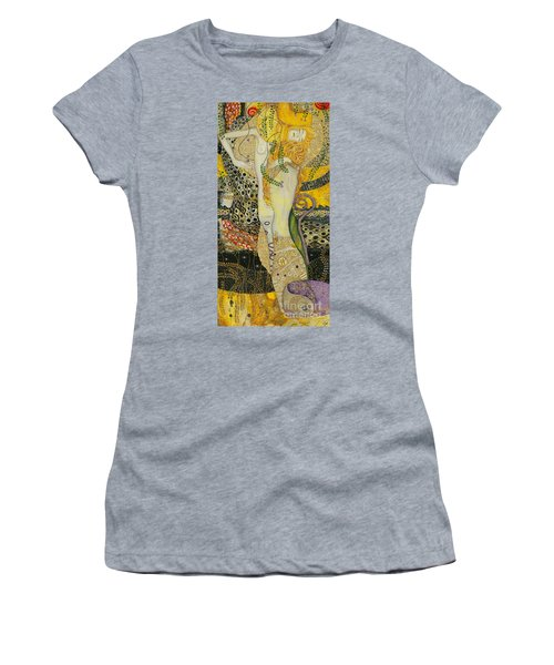 My Acrylic Painting As An Interpretation Of The Famous Artwork Of Gustav Klimt - Water Serpents I Women's T-Shirt (Athletic Fit)