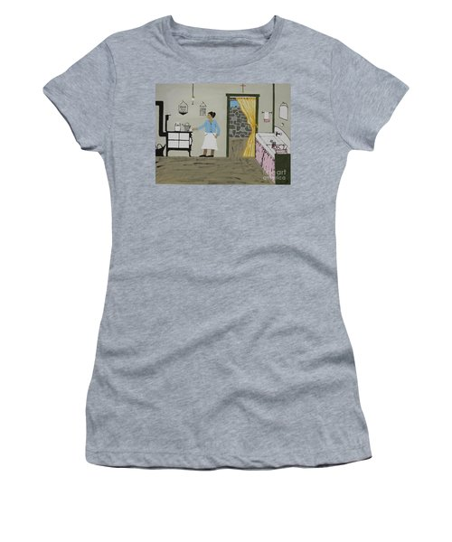 Women's T-Shirt (Junior Cut) featuring the painting Coal Miners Wife by Jeffrey Koss