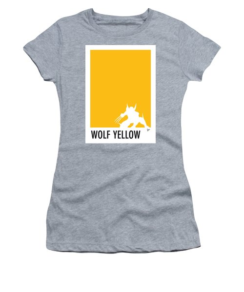 My Superhero 05 Wolf Yellow Minimal Poster Women's T-Shirt