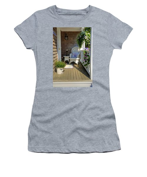 Nantucket Porch Women's T-Shirt (Athletic Fit)