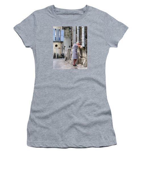 Women's T-Shirt (Junior Cut) featuring the photograph Naptime In Arles. France by Jennie Breeze