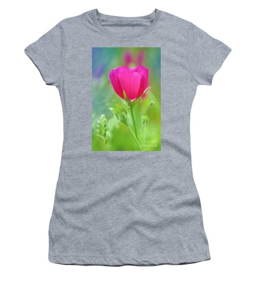 Women's T-Shirt (Junior Cut) featuring the photograph Natures Winecup South Texas by Dave Welling