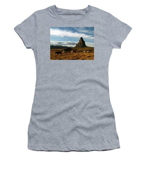 Navajo Horses At El Capitan Women's T-Shirt