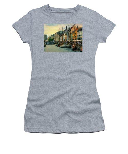 Nayhavn Street Women's T-Shirt (Junior Cut) by Jeff Kolker