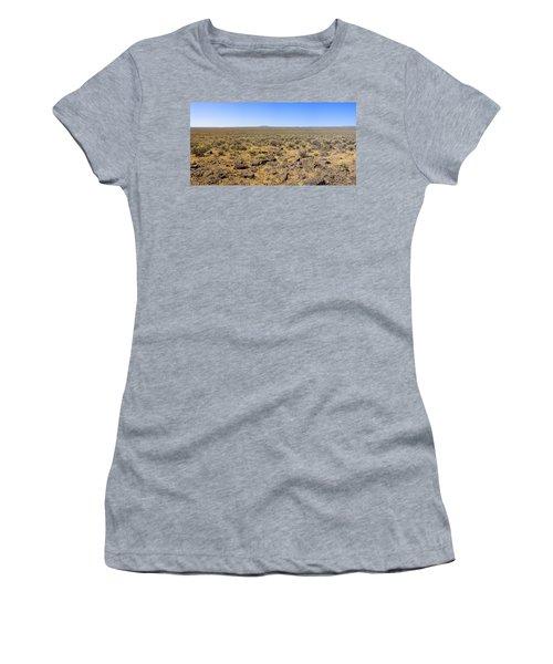 Women's T-Shirt (Junior Cut) featuring the photograph Nevada Desert Panorama by Mark Greenberg