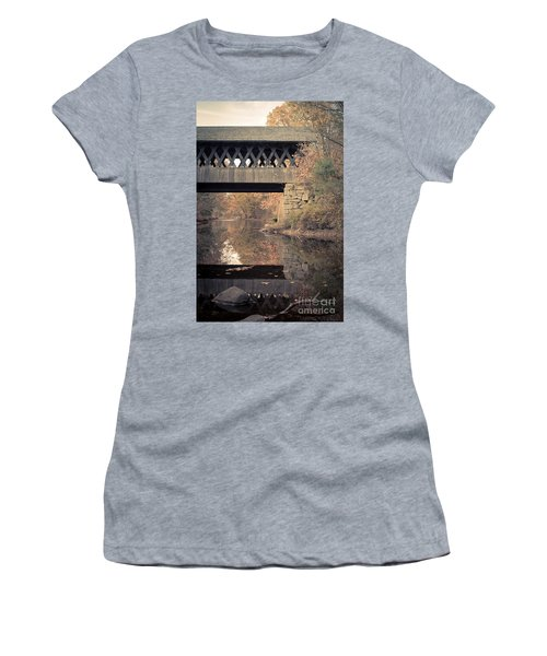 New Hampshire Covered Bridge Autumn Women's T-Shirt