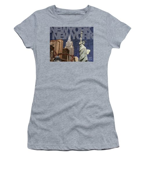 New York New York Las Vegas Women's T-Shirt (Athletic Fit)