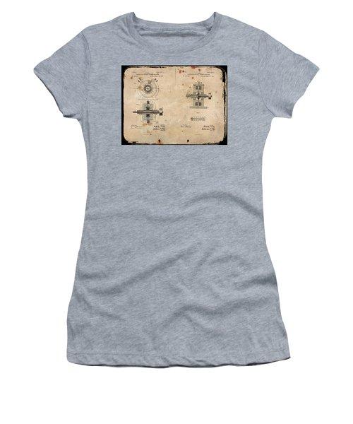Nikola Tesla's Alternating Current Generator Patent 1891 Women's T-Shirt