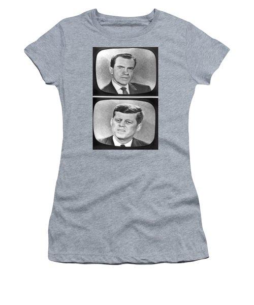Nixon-kennedy Debate On Tv Women's T-Shirt
