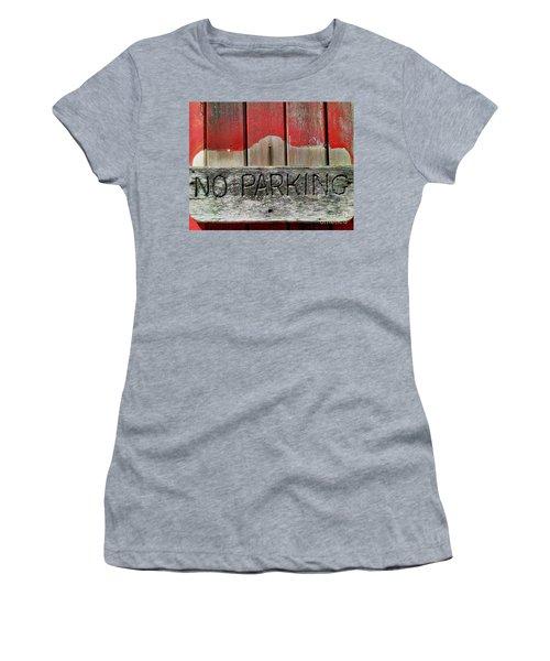 No Parking Women's T-Shirt (Junior Cut) by James Aiken