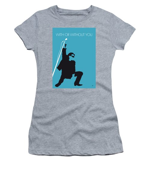 No035 My U2 Minimal Music Poster Women's T-Shirt (Athletic Fit)