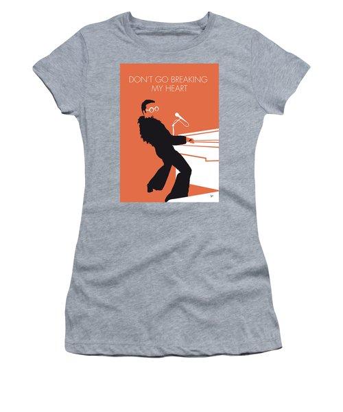 No053 My Elton John Minimal Music Poster Women's T-Shirt (Athletic Fit)