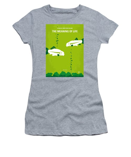 No226 My The Meaning Of Life Minimal Movie Poster Women's T-Shirt (Athletic Fit)
