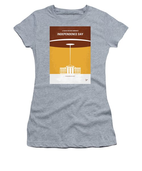 No249 My Independence Day Minimal Movie Poster Women's T-Shirt