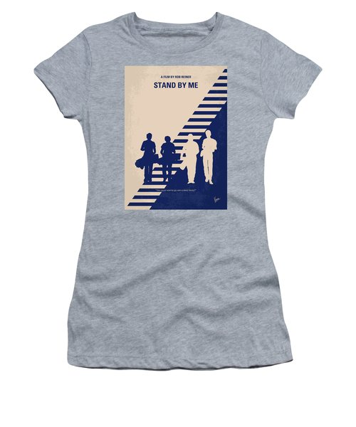 No429 My Stand By Me Minimal Movie Poster Women's T-Shirt (Athletic Fit)