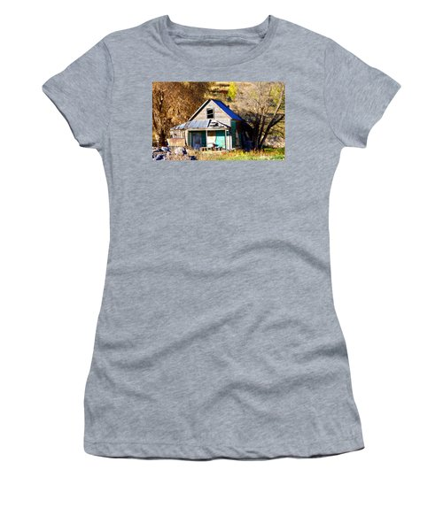 Women's T-Shirt (Junior Cut) featuring the photograph Nobody's Home by Jackie Carpenter