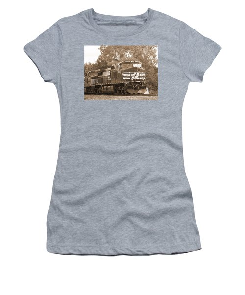 Norfolk Southern Freight Train Women's T-Shirt (Athletic Fit)