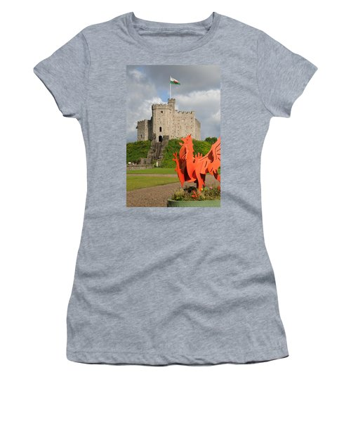 Norman Keep Cardiff Castle Women's T-Shirt (Athletic Fit)