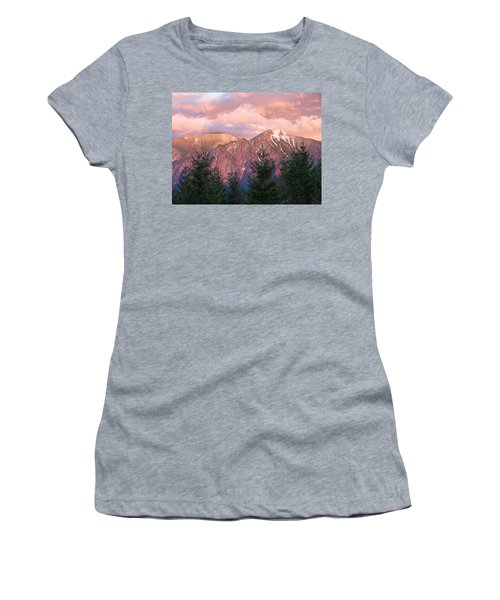 North Bend Washington Sunset 2 Women's T-Shirt (Athletic Fit)