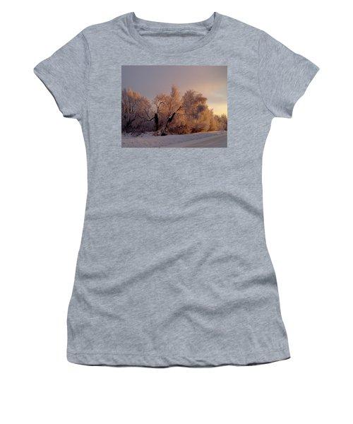 Women's T-Shirt (Junior Cut) featuring the photograph Northern Light by Jeremy Rhoades