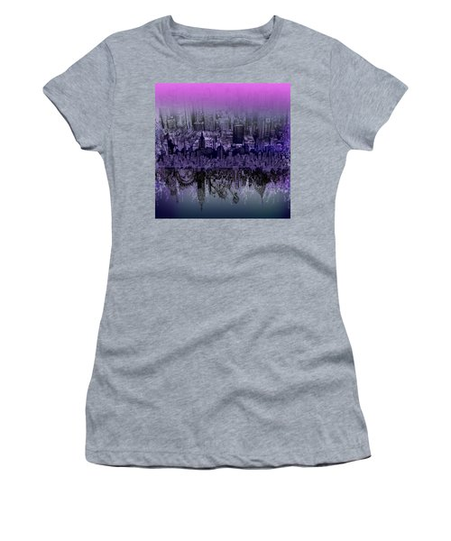 Nyc Tribute Skyline Women's T-Shirt (Athletic Fit)