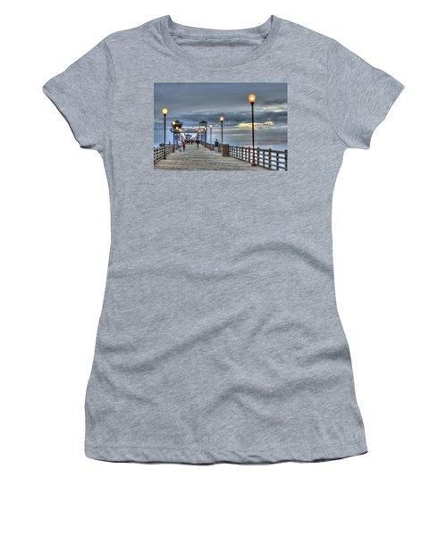 Oceanside Pier At Sunset Women's T-Shirt