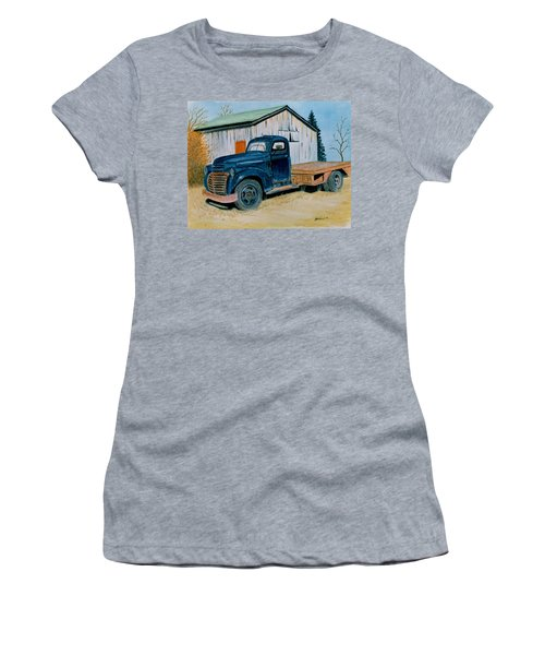 Old Blue Women's T-Shirt (Athletic Fit)