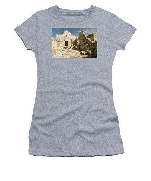 Old Church Anogyra  Women's T-Shirt (Athletic Fit)