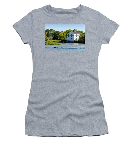 Old Mill On Grand River In Caledonia In Ontario Women's T-Shirt (Athletic Fit)