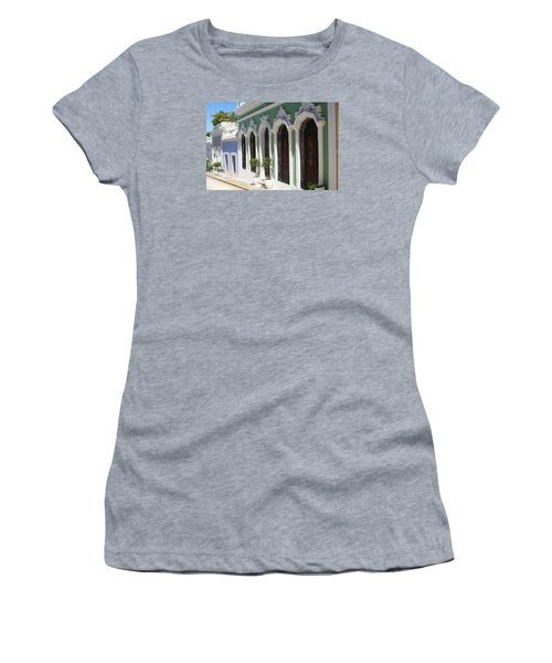 Women's T-Shirt (Junior Cut) featuring the photograph Old San Juan Street by The Art of Alice Terrill